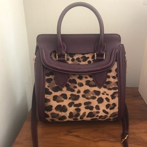 Alexander McQueen Heroine bag - leopard & leather
